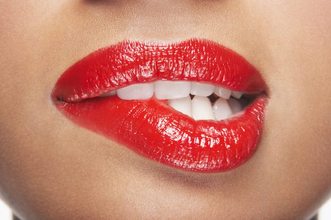 Biting-lip